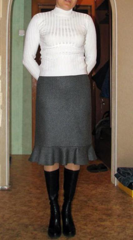 Просто шерстяная юбка