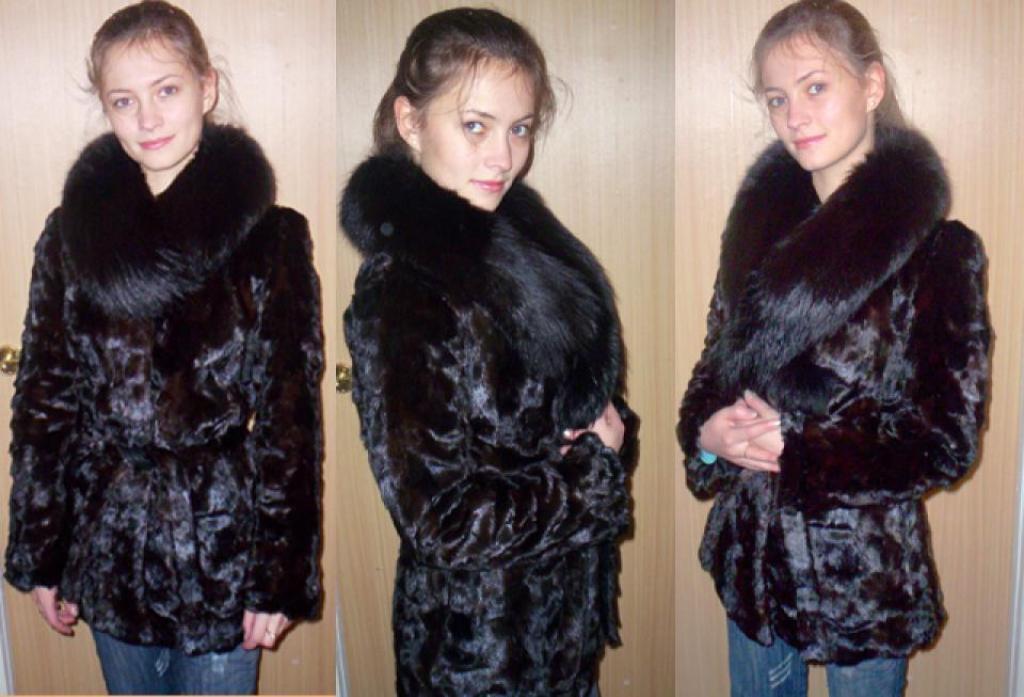 Адрес фото. http://eva.ru/RK59.  28.03.2007 шубкаиз лобиков норки ,сшита из старой маминой шубы ,воротник...