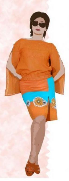 в оранжевом