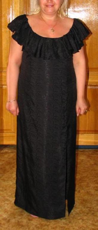 Вечернее платье для статной женщины