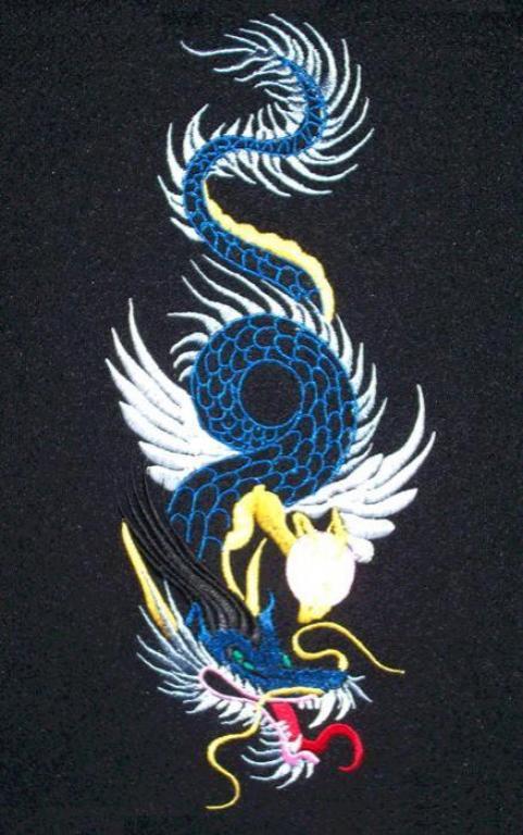 """машинная вышивка """"дракон"""""""