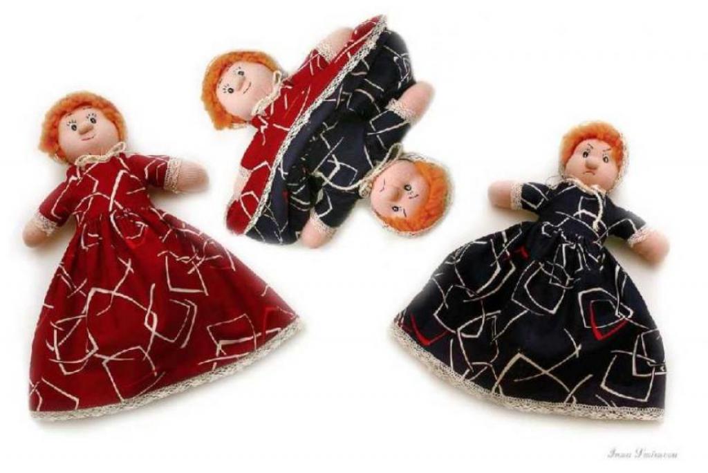 Кукла-перевертыш или кукла-настроение. Две-в-одной.