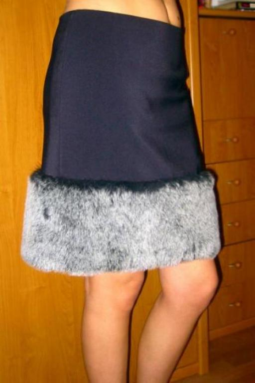 юбка с мехом