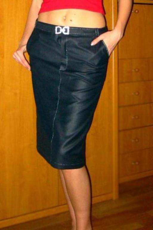 юбка с вышитыми карманами