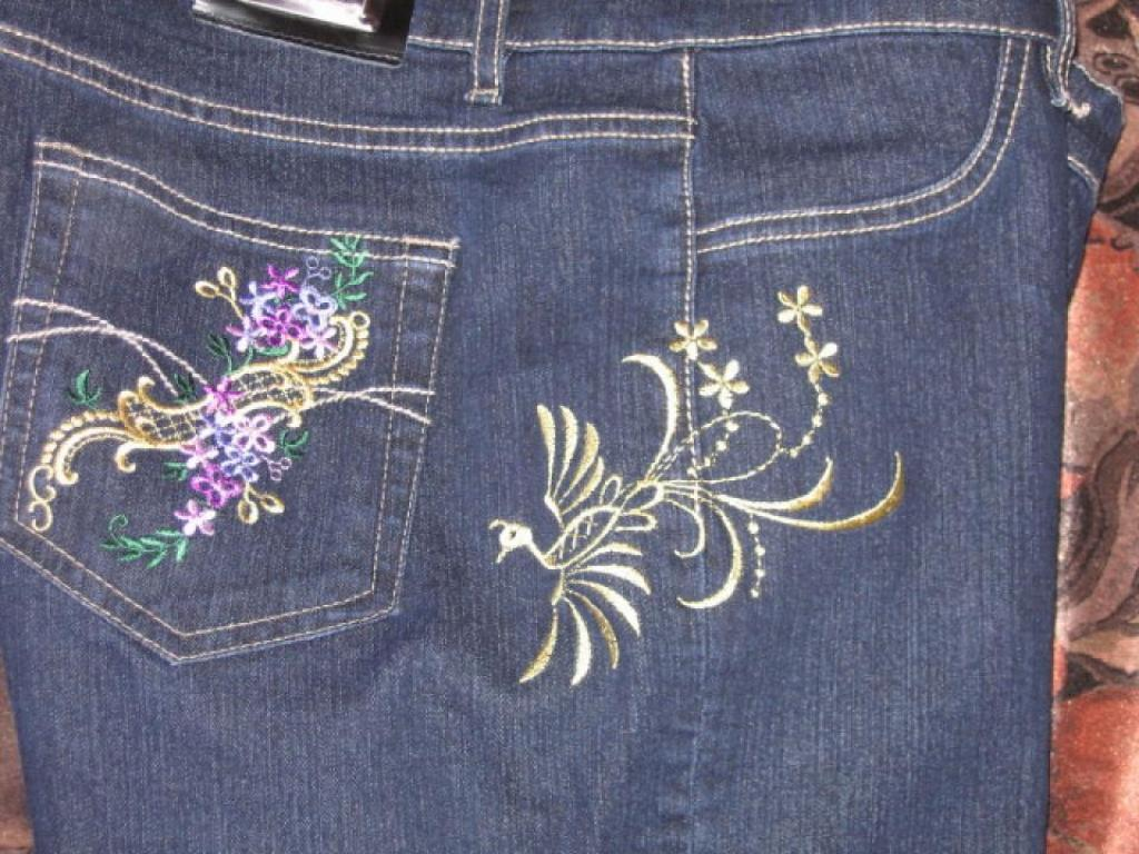 Украшаю джинсы.