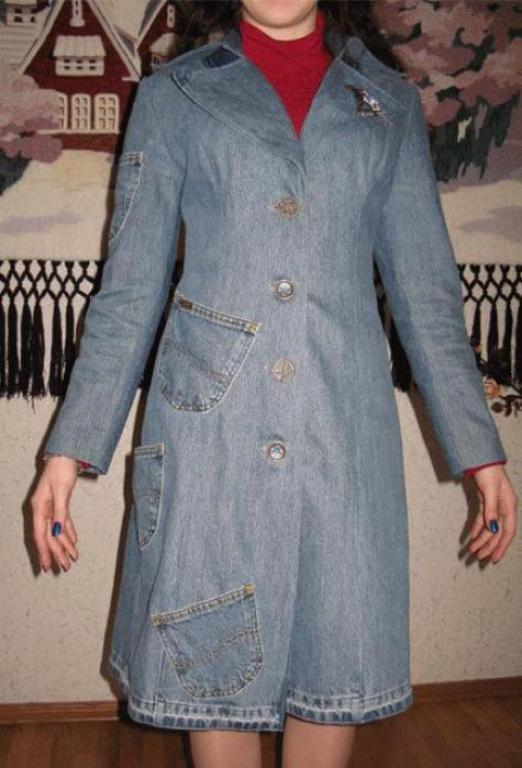 Сшить пальто из джинсовой ткани 47