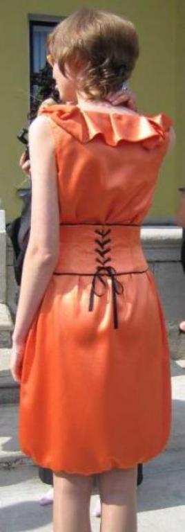 Выпускное платье. Спинка