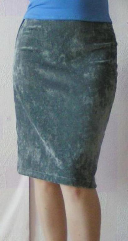 Выкройка юбки из вельвета