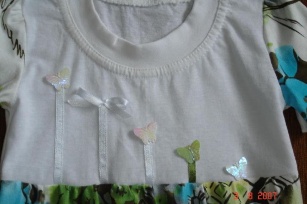 бабочки на платье