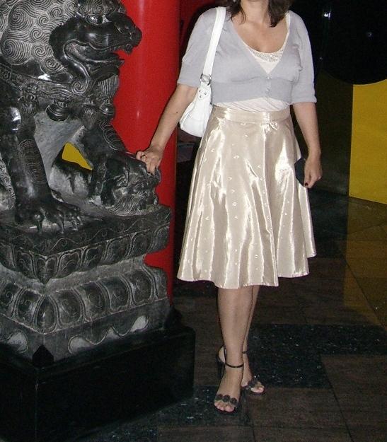 юбка полусолнце на мне