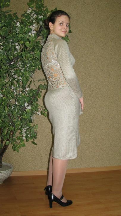 платье вечернее.трикотаж