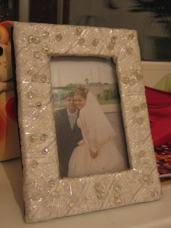 Свадебная фоторамка из картона