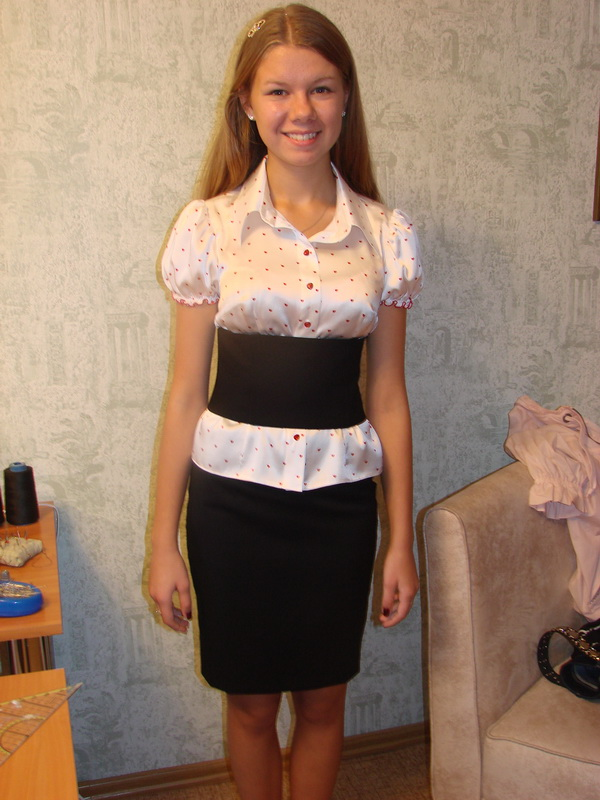 блузка + пояс