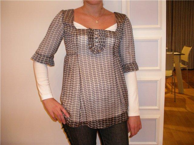 блузка из бурды