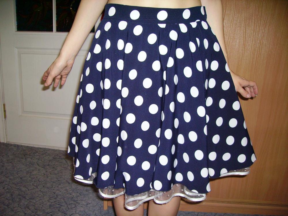 Как сшить юбку в горошек своими руками