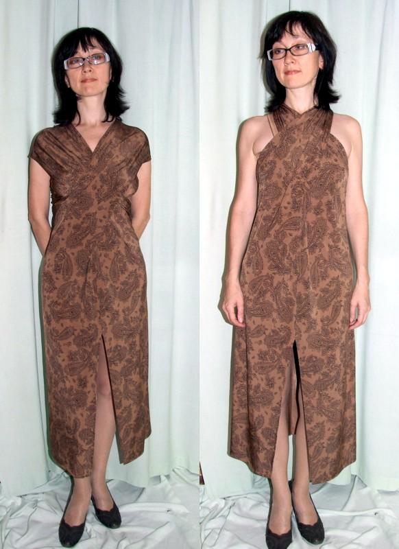 как сшить платье из трикотажа для.