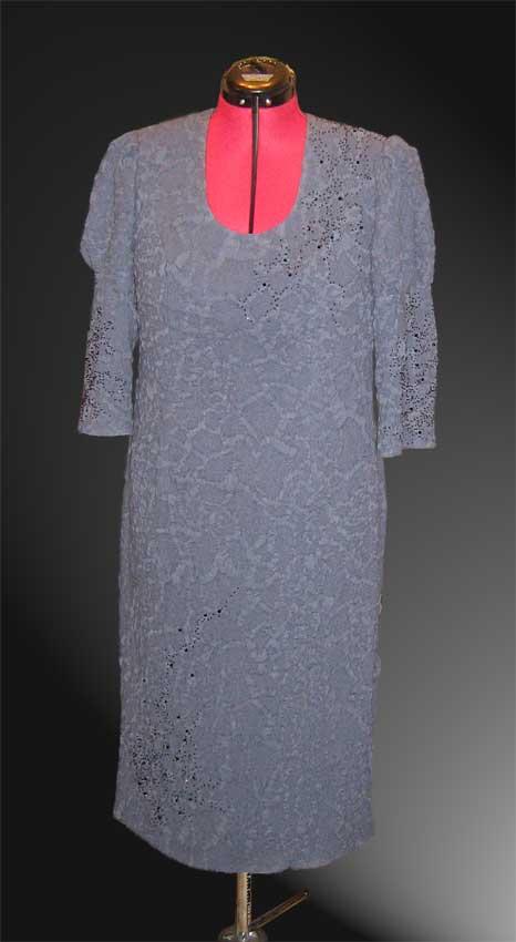 Платье из жатой шерсти