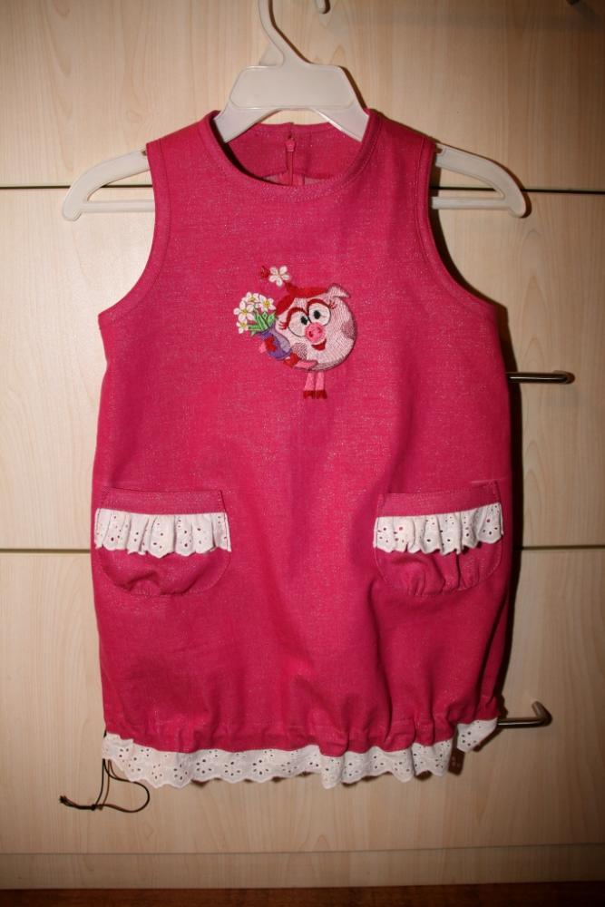 Сарафан для дочи с вышивкой