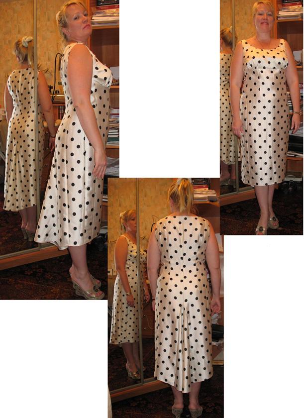 Платье из шелка в горох