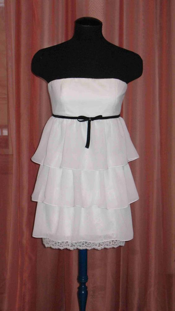 комбинированное платье с вязаной кокеткой