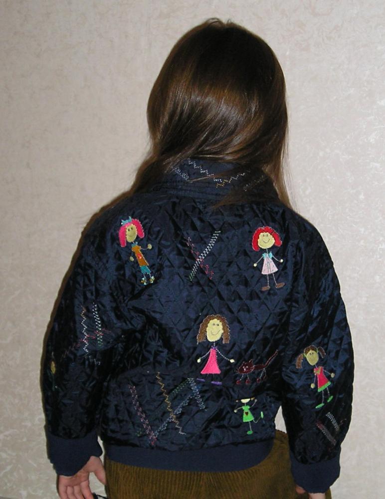 Как перешить маленькую куртку на большую