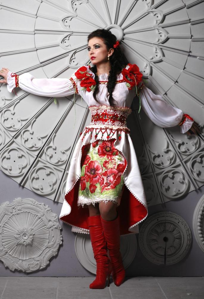 платья в украинском стиле фото.