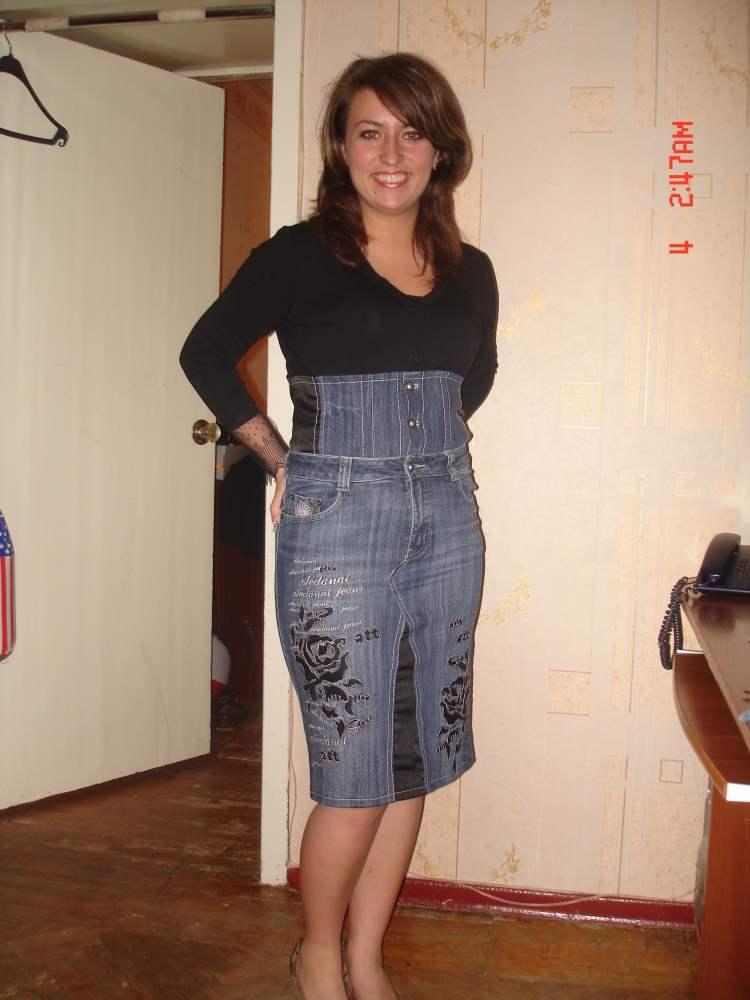 Джинсовая юбка из старых джинс