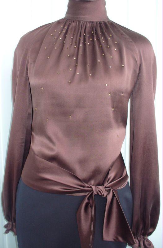 какой фасон платья или блузки можно сшить из ткани с рисунком крупные.