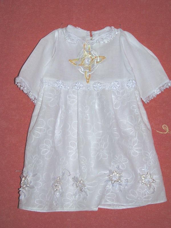 Выкройка крестильного платья на 1 год