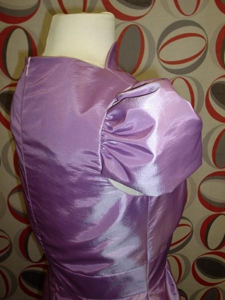 Лиловое платье