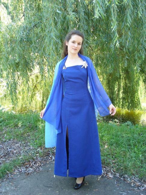 шикарное шифоновое платье в пол