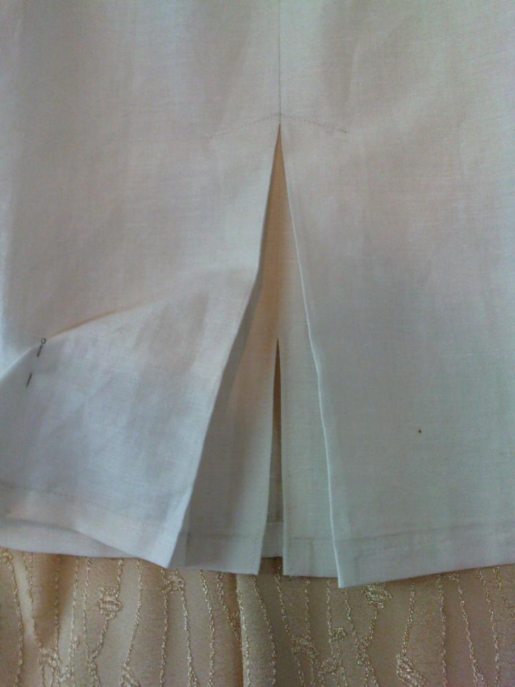 Как сделать шлицу если не хватает ткани