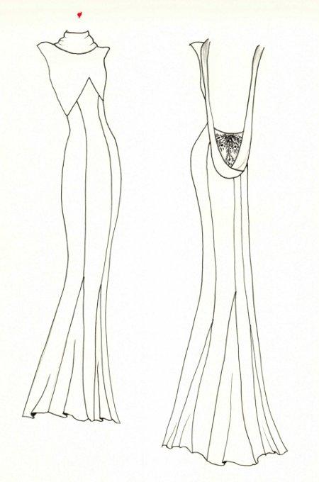 Эскизы выкройки юбок с завышенной талией.