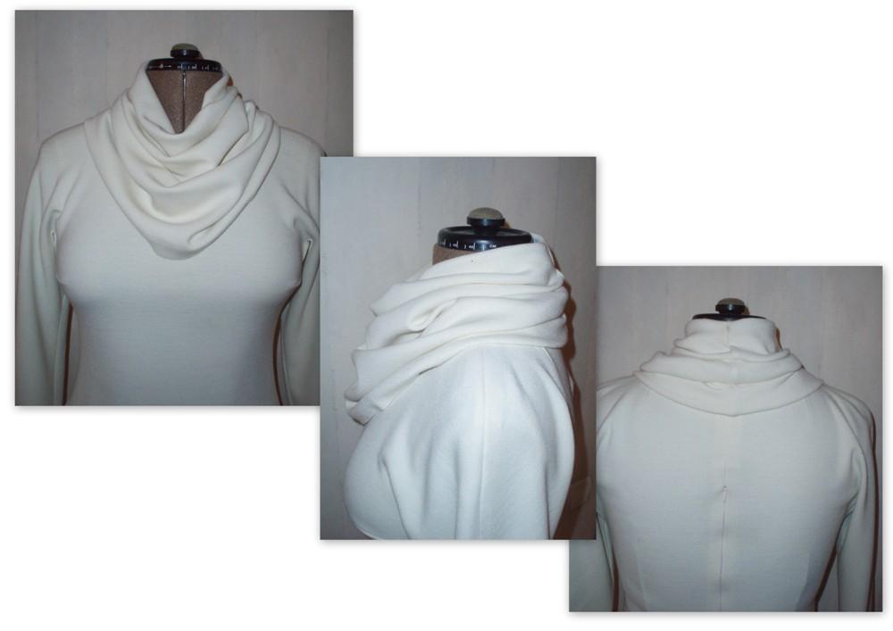 Выкройка блузок с воротником хомут