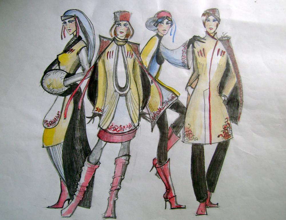 Этнические костюмы рисунки