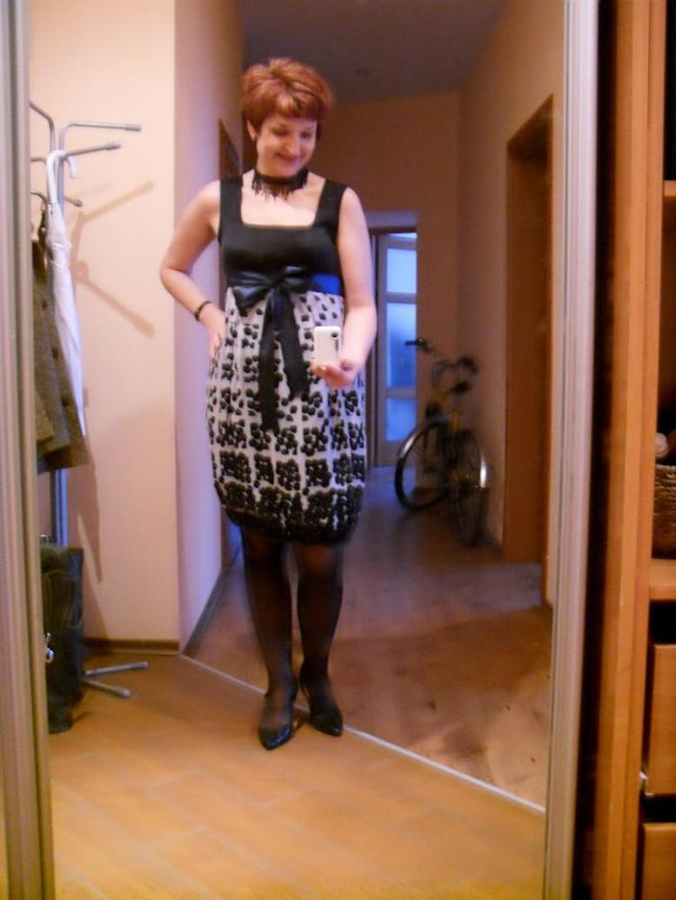 Платье из шифона-купона