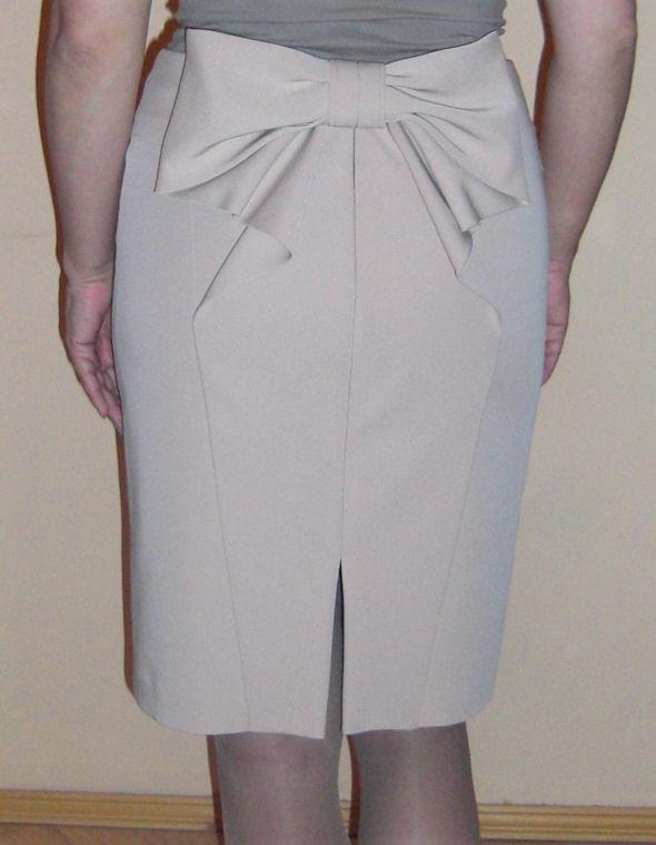 Выкройка юбка бант сзади
