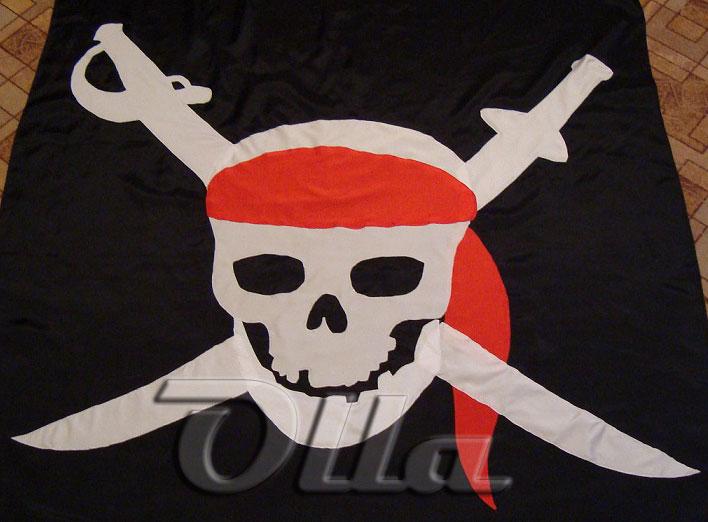 Как сшить пиратский флаг