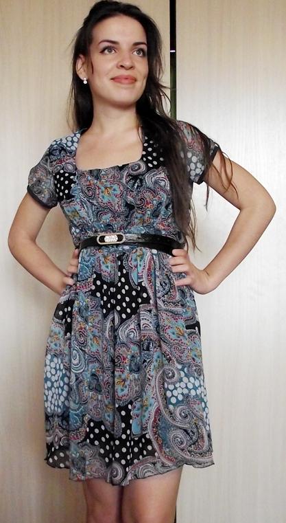Шифоновое платье выкройка