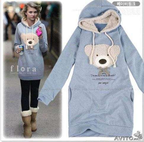 Фотографии худи с мишкой голубой bear hoodie.