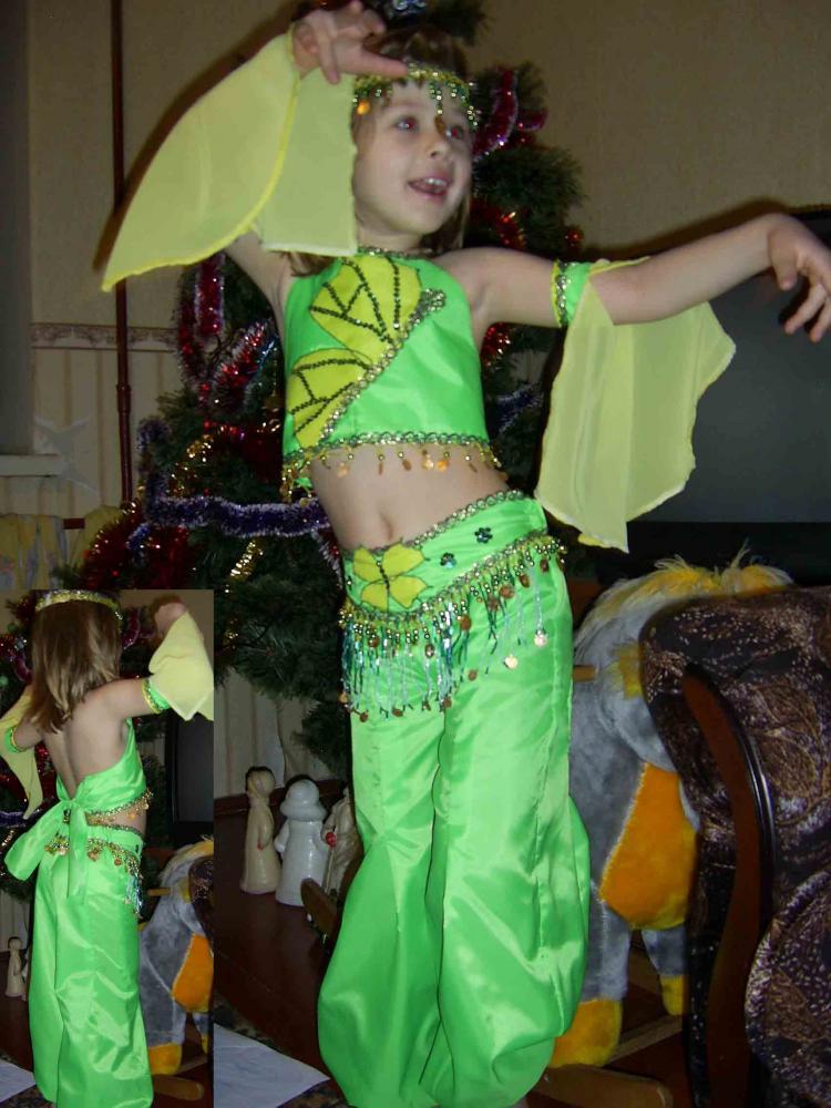 Как сделать восточный костюм для девочки своими руками