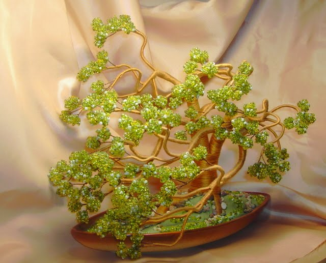 Лучшие деревья из бисера и бисерные композиции Бисероплетение.