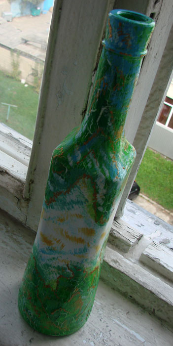 """""""Летняя"""" бутылка в подарок любимой подруге"""