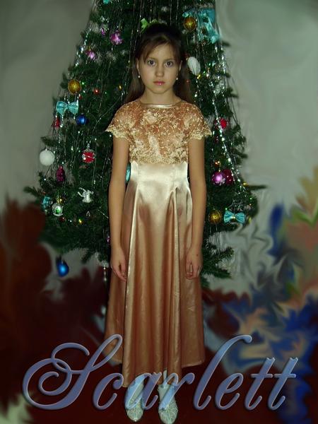 Платье и болеро для дочурки