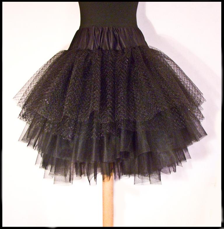Как сшить юбку из фатина с воланами 11