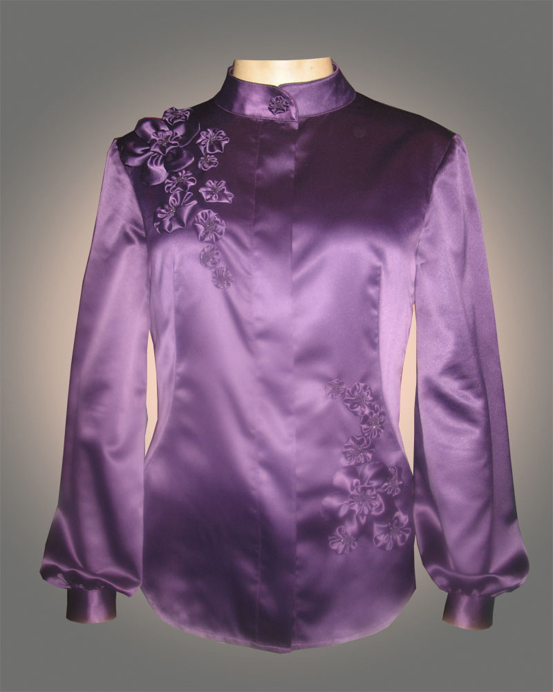 Блузки из атласа