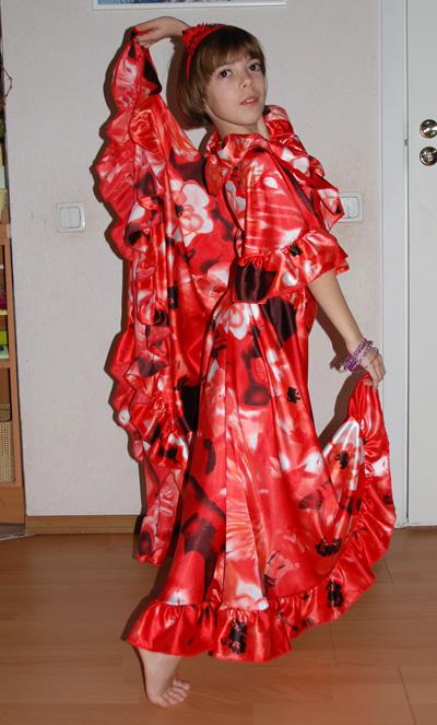Цыганский костюм расход ткани
