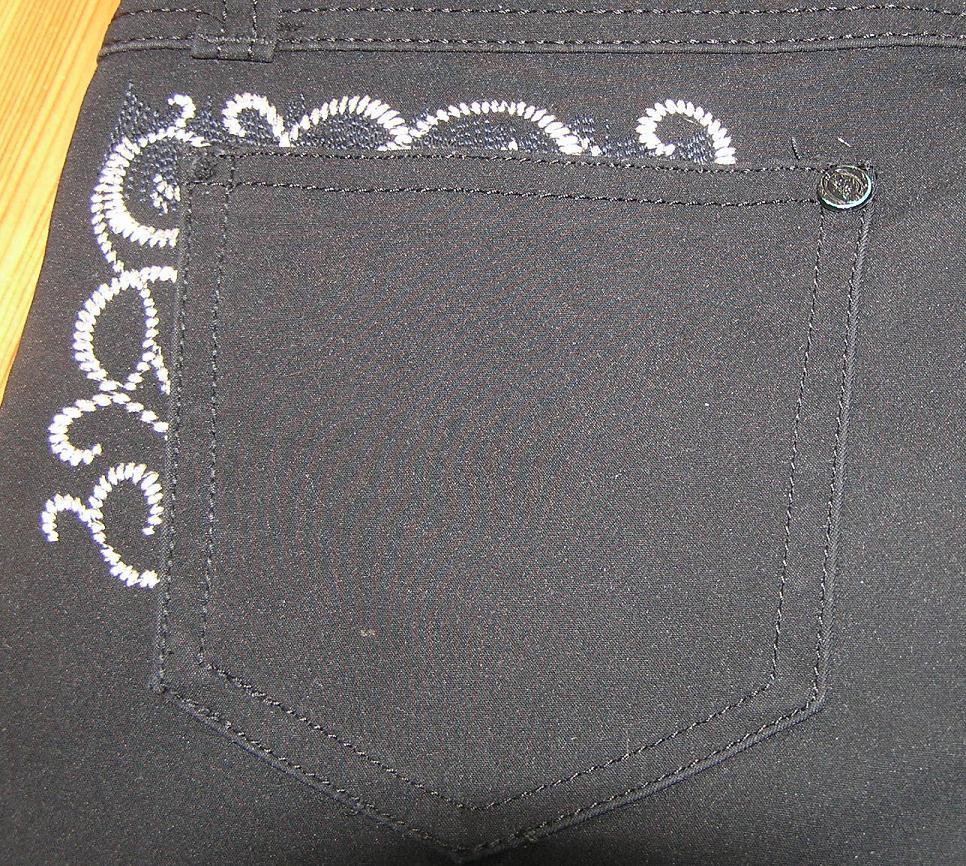 Вышивка для заднего кармана