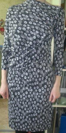 Ассимметричное платье их трикотажа