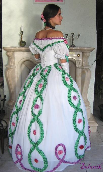 Украсить платье атласными лентами своими руками 88